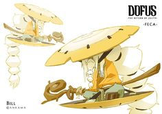 """About two years ago i've done this designs sketches for the upcoming DOFUS movie (which gonna be awesome if you believe me), but unfortunately this characters-the gods of the """"world of twelve""""-are no longer in the movie… but that granted me the opportunity to share this with you !"""