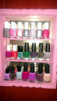 25 cool diy projects and ideas you can do yourself nail polish storage solutioingenieria Gallery