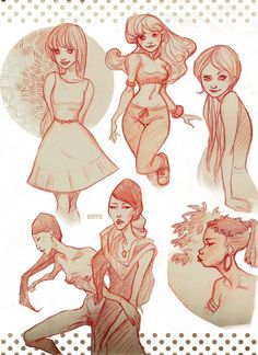 Sketches - Divers by Hito76.deviantart.com ✤ || CHARACTER DESIGN REFERENCES | Find more at https://www.facebook.com/CharacterDesignReferences if you're looking for: #line #art #character #design #model #sheet #illustration #expressions #best #concept #animation #drawing #archive #library #reference #anatomy #traditional #draw #development #artist #pose #settei #gestures #how #to #tutorial #conceptart #modelsheet #cartoon #female #lady #woman #girl || ✤