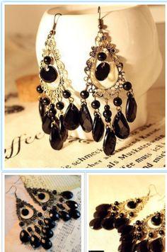 1fd4dda7d Pendant Earrings, Women's Earrings, Silver Plate, Woman, Free Shipping,  Crystals,