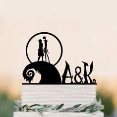 The Nightmare Before Christmas cake topper jack and sally cake topper party deco | Home & Garden, Wedding Supplies, Wedding Cake Toppers | eBay!