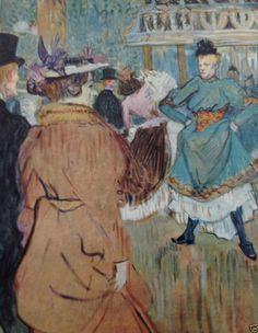 Toulouse-Lautrec 1952 MOULIN ROUGE QUADRILLE Dance Art Print Lithograph