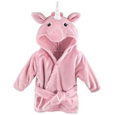 Hudson Baby Unisex Baby Plush Animal Face Robe, Pink Unicorn, One Size, Months Plush Animals, Baby Animals, Baby Vision, Baby Kids, Baby Boy, Soft And Gentle, Baby Warmer, Animal Faces, Unisex Baby