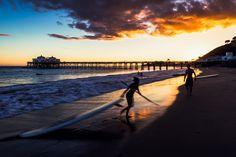 Malibu Pier Paddleboard Sunset