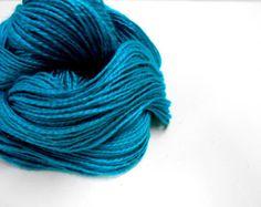 Teal Yarn, 2 Ply Vintage Yarn, Atkinson Yarn Designer Collection, 3 Skeins, Y121