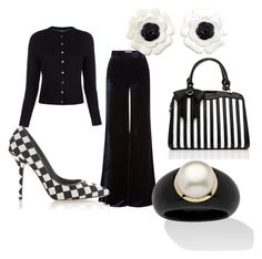 """Black on White"" by irma-silvano on Polyvore featuring moda, Emilio Pucci, Paul Smith, Chanel, Dolce&Gabbana e Palm Beach Jewelry"