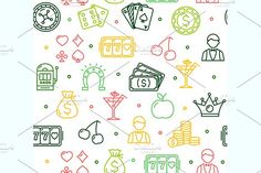 Casino Background Pattern. Vector Graphics Casino Colorful Background Pattern. Vector illustration. EPS and high resolution JPG in ZIP. by Stacy
