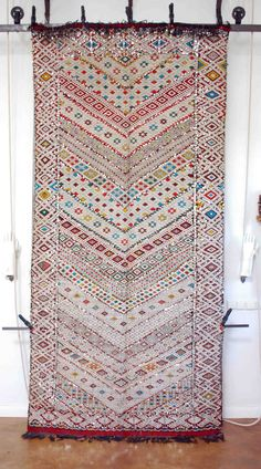 Vintage Moroccan sequined flat weave 2615 - Products - Red Thread Souk