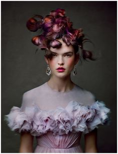 """Zoe Colivas Greece Model """"The Icing On The Cake"""" W May 2013 Photo Patrick Demarchelier"""