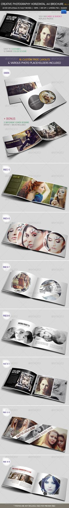interesting elements added to the images to make them more interesting. (Creative Photography Portfolio A4 Brochure vol. 2 - GraphicRiver Item for Sale)