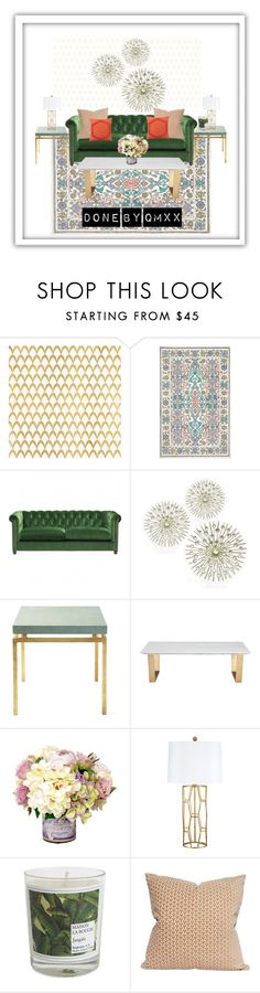 """""""Summery feel"""" by qqamrah on Polyvore featuring interior, interiors, interior design, home, home decor, interior decorating, Barclay Butera, nuLOOM, Serena & Lily and Maison La Bougie"""