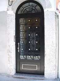 Puerta de hierro forjado puertas de hierro pinterest for Puerta blindada antigua casa gutierrez