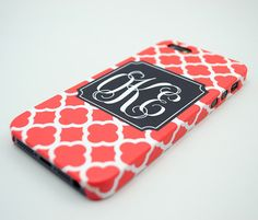 Monogram iPhone 5 case iPhone 5s case iPhone 5 cover  by ROKECASE, $19.99