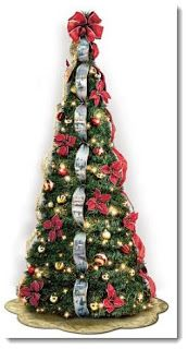 First Ever Kinkade Pre Lit Pull Up Christmas Tree. Pre Decorated With  Kinkade Artwork Ribbons, 46 Ornaments, 200 Clear Lights, Much More.