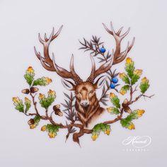 1 pc - Oval Dish - length 34 cm CHTM - Deer motif This Forest Animals Country Walk, Elegant Table, Forest Animals, Pet Birds, Woodland, Deer, Moose Art, Hunting, Porcelain