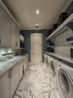 long narrow laundry room layout - Google Search