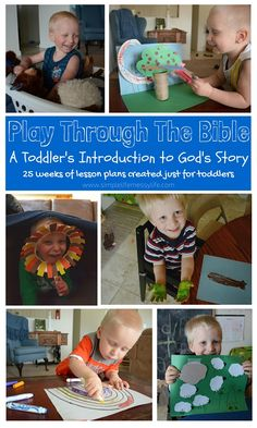 Play Through The Bible (Creation) - A Toddler's Introduction to God's Story - 25 weeks of bible study created just for toddlers