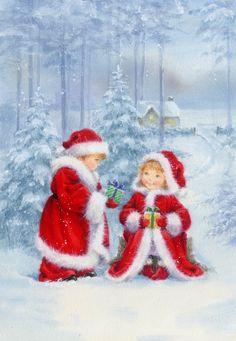 Christmas Scenery, Christmas Poems, Christmas Graphics, Christmas Drawing, Magical Christmas, Christmas Past, Vintage Christmas Cards, Beautiful Christmas, All Things Christmas