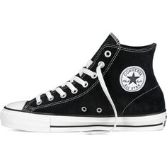 Converse CONS CTAS Pro – black/white Sneakers ($75) ❤ liked on Polyvore featuring shoes, sneakers, converse shoes, high top trainers, high top shoes, black white sneakers and hi-tops
