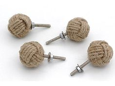 32MM Dia 4 Jute Rope Cabinet Knobs Nautical Decor Set Of Four Roorkee  Instruments India Http