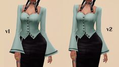 Hope you enjoy today's treats. Sims 4 Collections, Sims Resource, Tumblr, Sims Cc, Cold Shoulder Dress, Female, Sleeves, Clothes, Color
