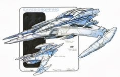 Jem'Hadar battleship concept art by John Eaves Note the Defiant in there for scale