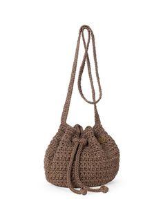 Casual Textured Crochet Shoulder Bag 55