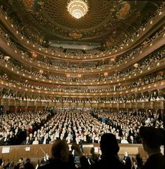 Audience at gala on the last night in the old Metropolitan Opera House before the company moved to new home at Lincoln Center.April, 1966.  Photograph byHenry Groskinsky.
