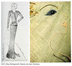 1937, Elsa Schiaparelli & Jean Cocteau