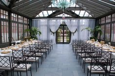 ceremony and reception in the same venue - just move the chairs. ** omg hands down my fave option!! :) love the long tables tooo!!!! @Katie Schmeltzer Schmeltzer Razunas