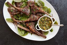 Find the recipe for Lamb Chops with Pistachio Salsa Verde and other parsley recipes at Epicurious.com