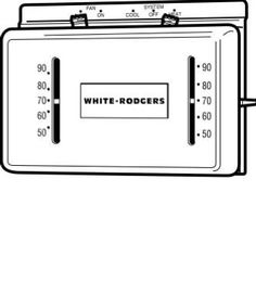 White-Rodgers #350 24VHeat/Cool Thermostat by White Rodgers. $33.66. 24V, Non Mercury, Deluxe Mechanical Heating & Cooling Thermostat, Horizontal Design, Quiet, Long Lasting Mercury Switching.