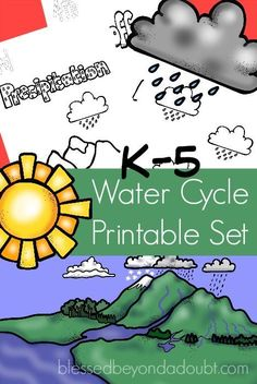The Water Cycle is a fascinating science topic for kids. It's so much more effective if you include fun worksheets, illustrations, and graphs with the unit. Be sure to download this free water cycle printable set for your students.