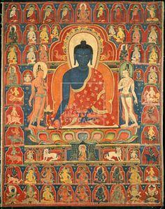 Central Tibet, Painted Banner (Thangka) with the Medicine Buddha (Bhaishajyaguru), 14th century, Pigment on cloth, Kate S. Buckingham Fund, The Art Institute of Chicago (Image No. 00039126-01)