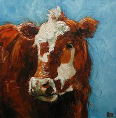 I love the whimsy of this cow painting . . . now where to put it?!
