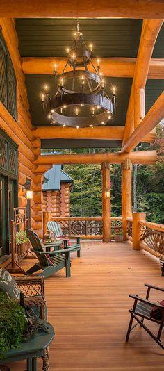 Gorgeous Porch - Sitka Log Homes