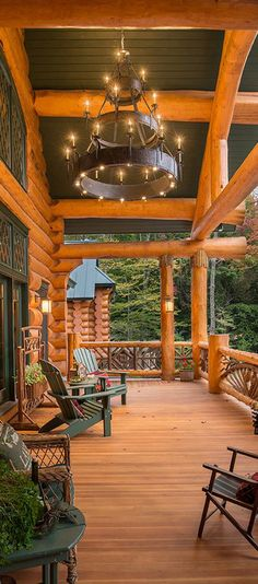 Gorgeous Porch - Sitka Log Homes