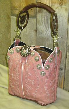 Have always been going to make a boot purse.  This site shows you ideas on how to do them.