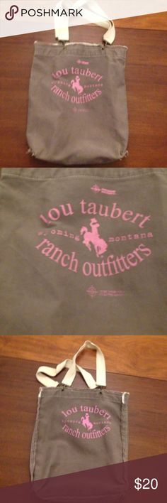 Lou taubert distressed tote Cute canvas tote frayed edges perfect for a ranch loving girl measures 13 x 15 big enough for groceries or school bags Bags Totes