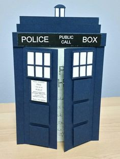 Dr Who Tardis Card