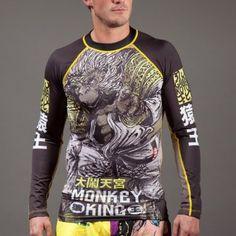 TATAMI MENS CHESS GORILLA RASH GUARD Long Sleeve Jiu Jitsu MMA BJJ