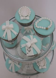 tiffany cupcakes. NOT a link to recipe/tutorial.