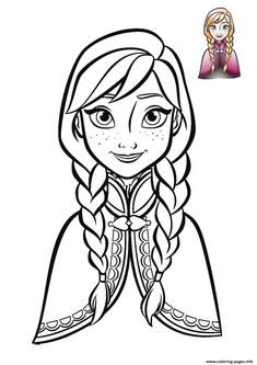 anna frozen face 2018 coloring pages printable and coloring book to print for free. Find more coloring pages online for kids and adults of anna frozen face 2018 coloring pages to print. Disney Coloring Pages Printables, Frozen Coloring Pages, Coloring Pages For Grown Ups, Disney Princess Coloring Pages, Disney Princess Colors, Cute Coloring Pages, Disney Colors, Cartoon Coloring Pages, Coloring Pages To Print