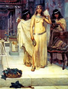 """""""Cleopatra"""" -by William Henry Margetson (1861-1940)"""