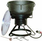King Kooker 1740 17-1/2-Inch Outdoor Cooker with 10 Gallon Cast Iron Jambalaya Pot Package