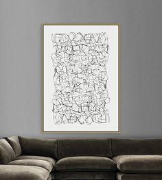Large Abstract Minimalistic Painting Printable Art Large