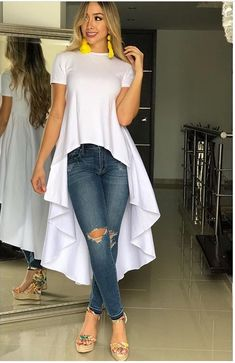 Fashion Tips Outfits high low dress .Fashion Tips Outfits high low dress . Casual Mode, Casual Chic, Casual Wear, Fashion Wear, Fashion Dresses, Fashion Looks, Womens Fashion, Fashion Trends, Fashion Tips