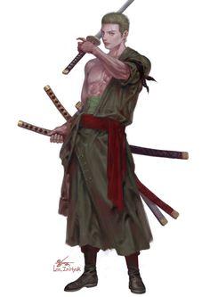 One Piece, Roronoa Zoro Anime One Piece, Zoro One Piece, Character Concept, Character Art, Character Design, Japanese Monk, Ninja Art, Cartoon Tv Shows, Roronoa Zoro