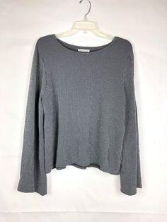 dd946c4c571560 ZARA Women's Black & white Top size L Long Split Angel Sleeve Stripe  Viscose 16