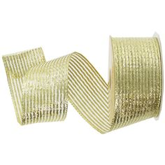 Gold Sheer with Satin Metallic Ribbon is 95% Nylon & 5% Metallic ...